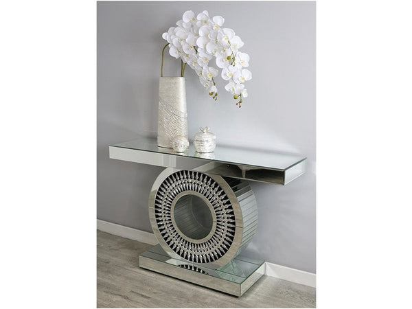 Teardrop Glass Console Table