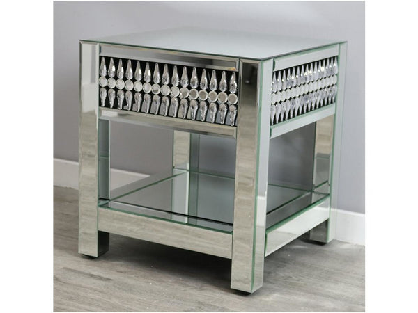 Teardrop Glass End Table