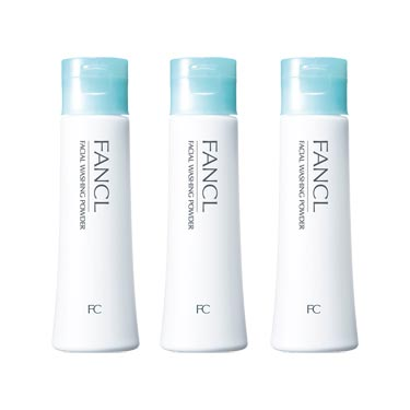 FANCL Facial Cleaning Powder  3sets, 1.8 oz (50 g) x 3, Approx. 90 Day Supply