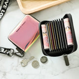 11 Card Slots Matte Leather Card Holder