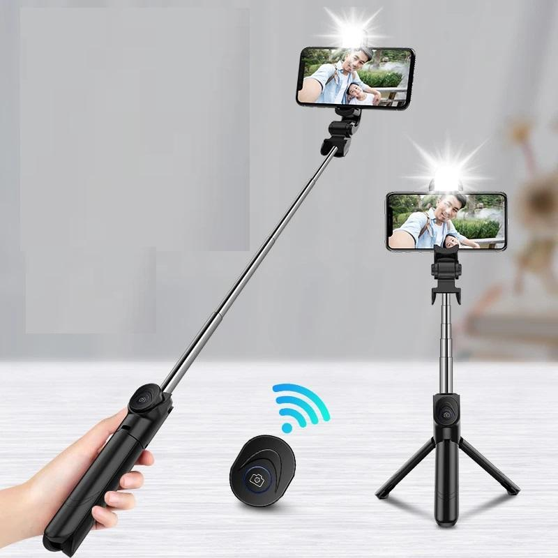 Mobile phone selfie stick Bluetooth cross-border explosion model tripod all-in-one selfie live photo wireless selfie stick