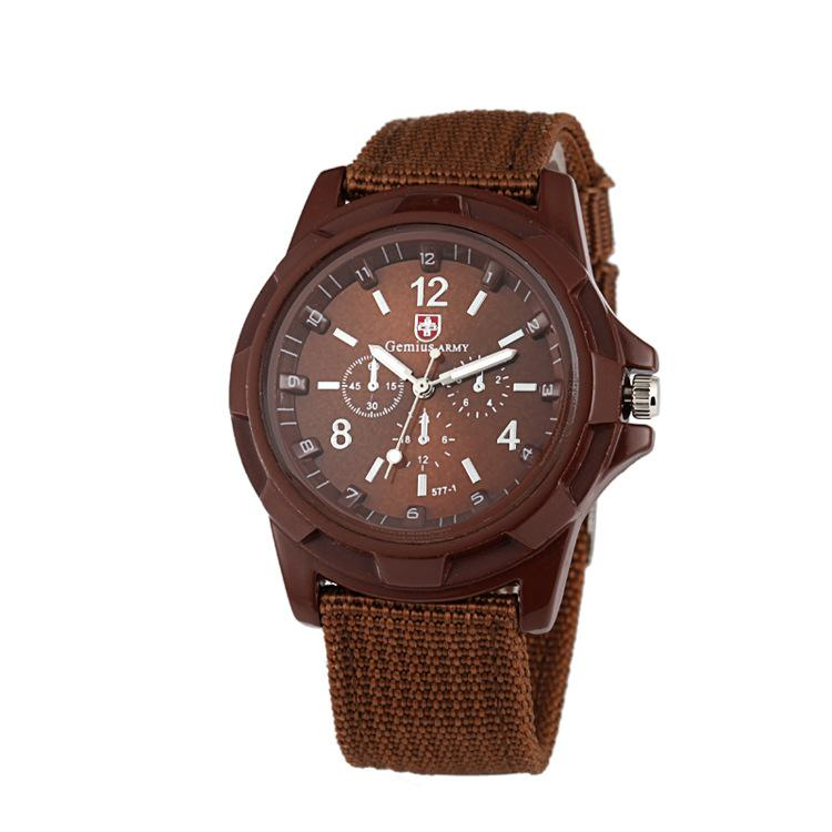 2020 New Style Outdoor Sports Military Watch Nylon Braided Strap Men's Watch
