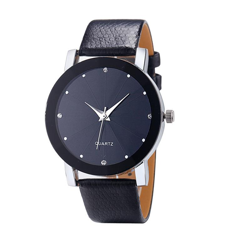 Without Literal Glass Mirror Leather Strap