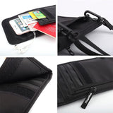 Travel Passport Bag Multi-function Document Bag Waterproof Passport Holder RFID Document Bag Abroad Hanging Neck Bag