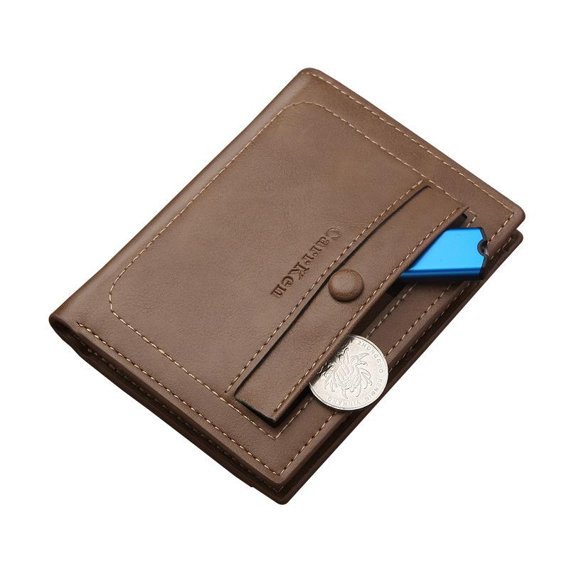 Men's Wallet Short Student Ultra-thin Men's Wallet Retro Wallet Men Wallet Sport