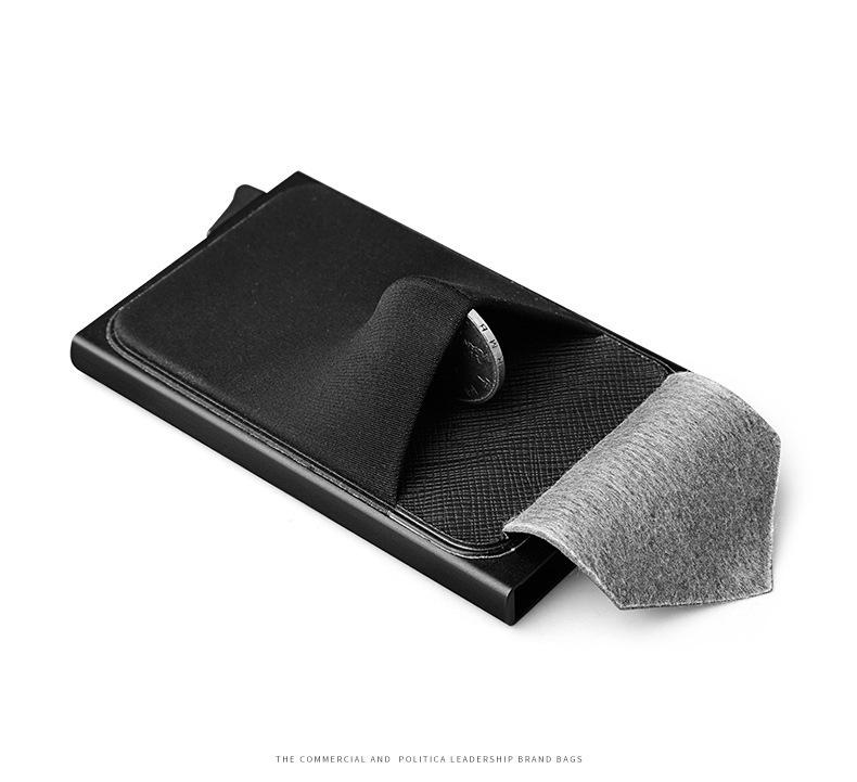 Men Business Aluminum Cash ID Card Holder Blocking Slim Metal Wallet Coin Purse Card Case Credit Card Wallet