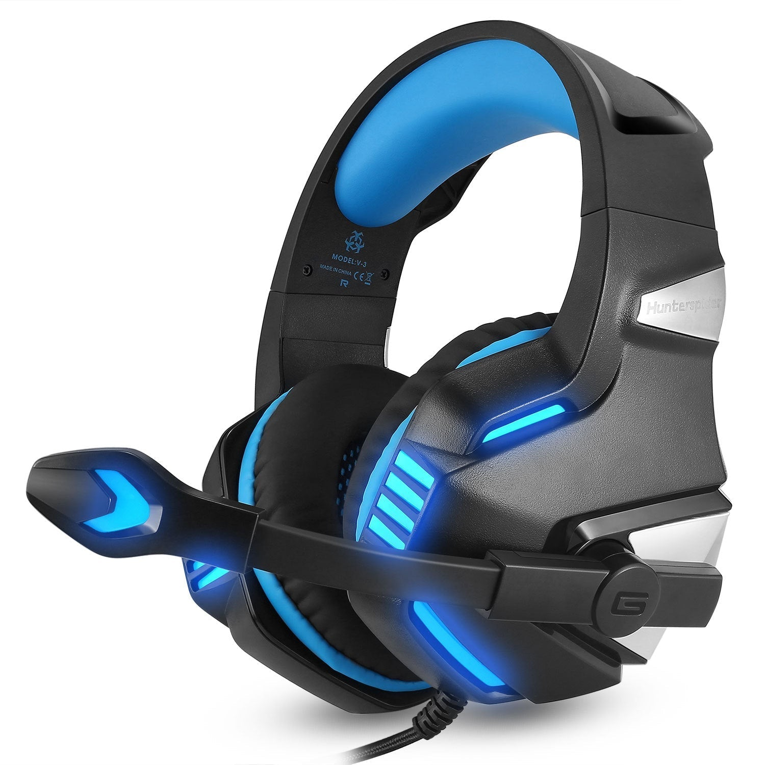 Head-mounted Notebook Desktop Computer Game Light-emitting Line Control PS4 Headset