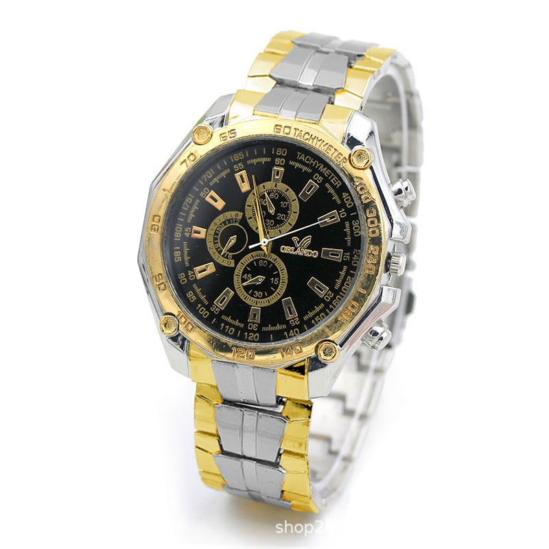 Fashion Men's Stainless Steel Strap Casual Watch