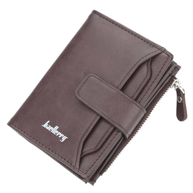 2020 Baellerry Men Wallets Fashion Short Design Zipper Card Holder Men Leather Purse Solid Coin Pocket High Quality Male Purse