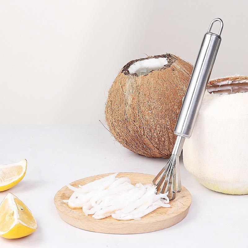 Stainless steel coconut grating fish scales planing seed remover stainless steel coconut grater