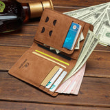 2018 New Men's Wallet Short Student Ultra-thin Men's Wallet Retro Wallet Men Wallet