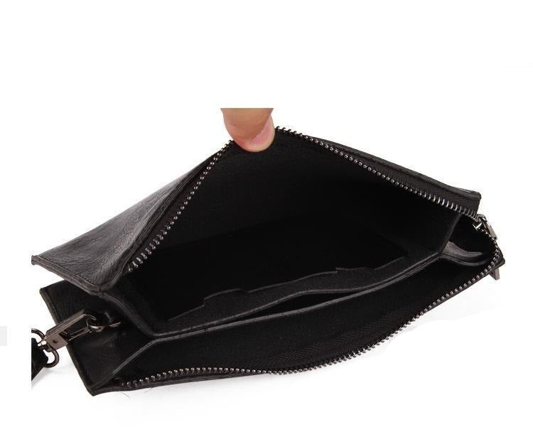 Male PU Leather Wallet Long Style New Trendy Men's Clutch Bag Soft Leather Zipper Youth Clutch