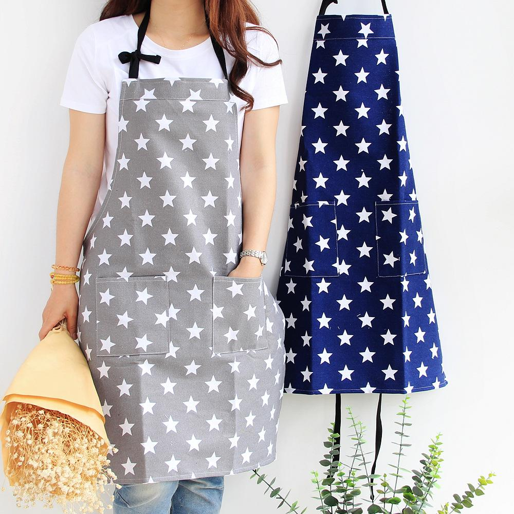 Apron canvas painting clothes kitchen work clothes shop clothes bakery baking thickened polyester cotton apron