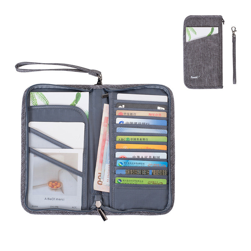 New Passport Bag Ticket Holder Document Storage Bag Protective Cover Multi-function Document Bag for Overseas Travel