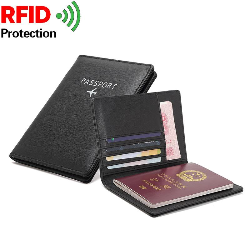 Passport Bag Multifunctional Anti-theft Swiping RFID Document Bag for Men and Women Abroad Travel Wallet Thin Ticket Holder