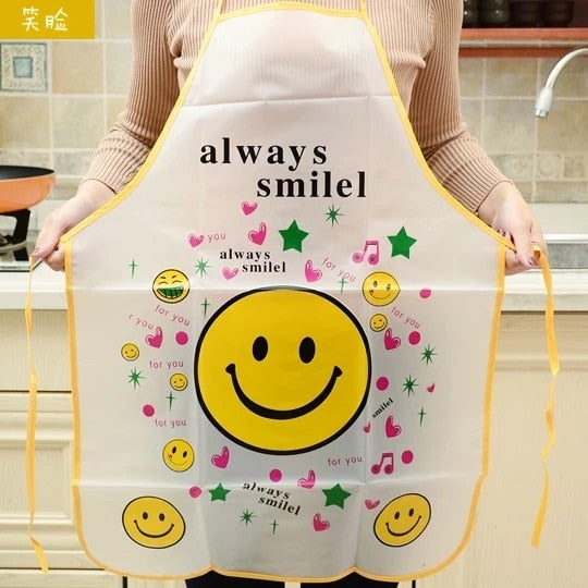 Kitchen Apron Rabbit Printing Kids Aprons BBQ Bib Apron For Women Cooking Baking Restaurant Apron Home Cleaning