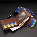 New Men's Short Wallet Multifunction Fashion Iron Edge Draw Card (set of 2)