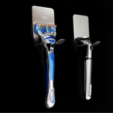 Dark Black Leather Suspenders