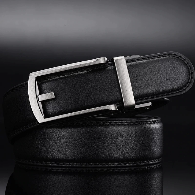 2020 Men's High Quality Genuine Cow Leather Belt Automatic Buckle Male Belts
