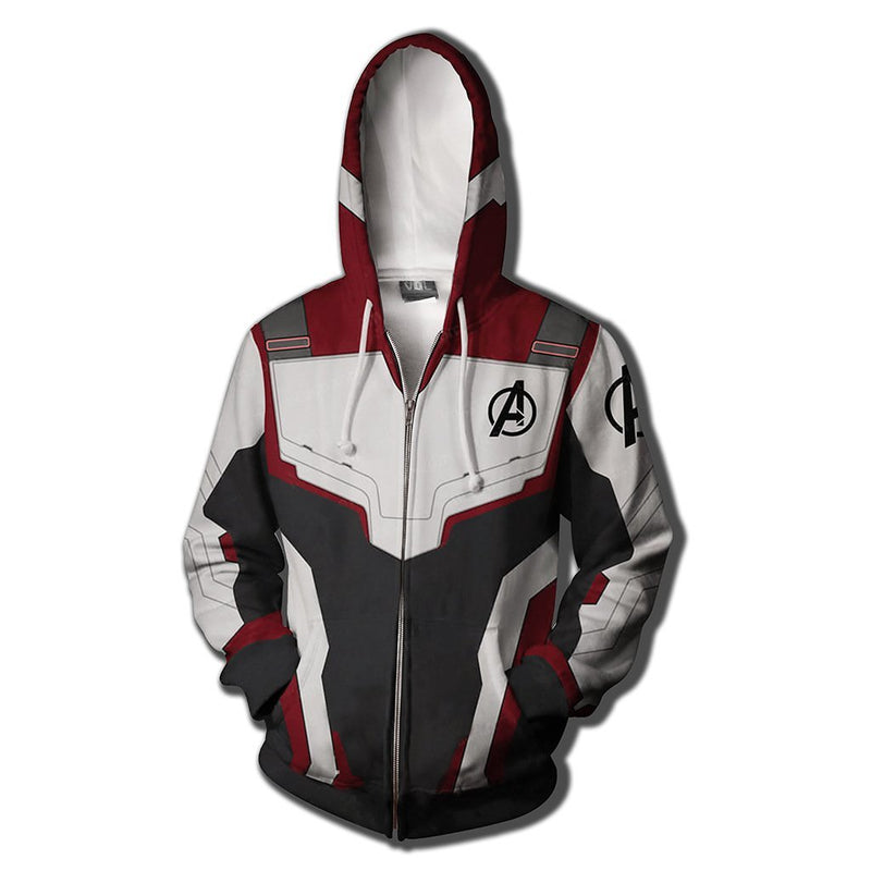 Avenger Alliance 4D Digital Printed Hoodie Quantum Warfare Concept Zipper Hat 3D Sanitary Clothing