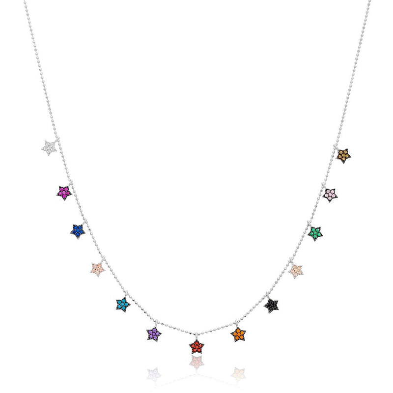 Silver Choker Shaker Necklace Star Charm Shaker Necklace handmade 925 Silver Sterling Necklace
