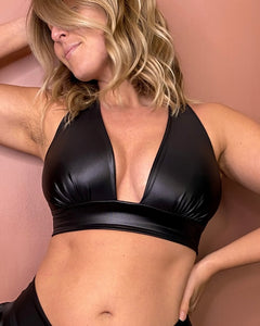 WOW bra (reggiseno) - Black Ecopelle Effect/Mat