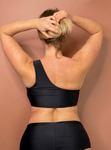 Upload the image to the Gallery viewer,Preorder 2021 - One Shoulder Top (Bra) - Black Faux Leather Effect / Mat