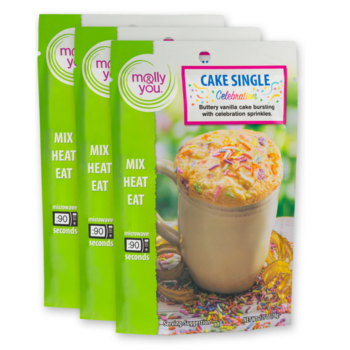 Celebration Microwave Cake Single: 3-Pack