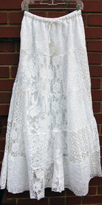 Load image into Gallery viewer, Patchwork Lace Skirt
