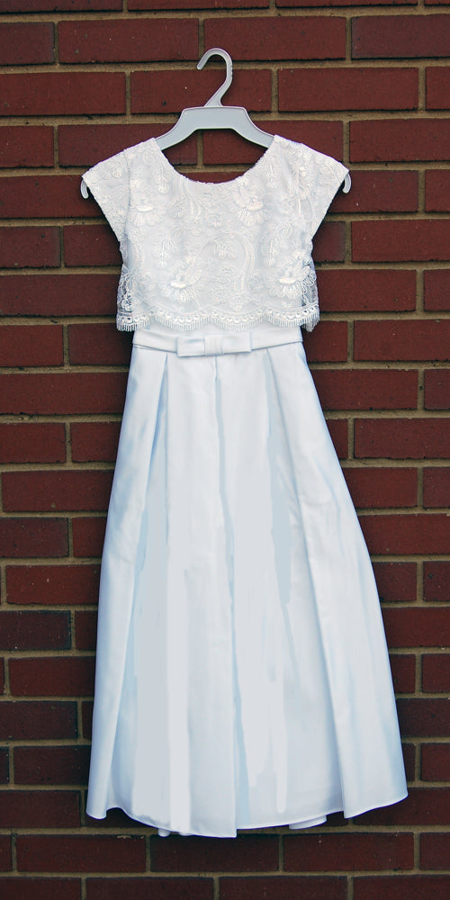 Lace Crop Top Communion Dress
