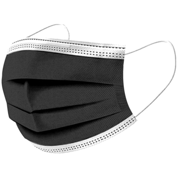 NEW - 2 TONE BLACK MASKS BOX OF 50