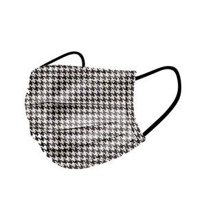 NEW - Hounds Tooth Pattern Disposable Mask