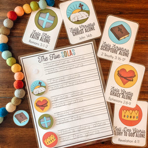 Five Solas Printable Reformation Activity - Arrows And Applesauce
