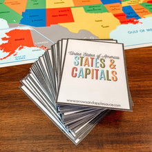 Load image into Gallery viewer, U.S. States & Capitals Printable Flashcards - Arrows And Applesauce