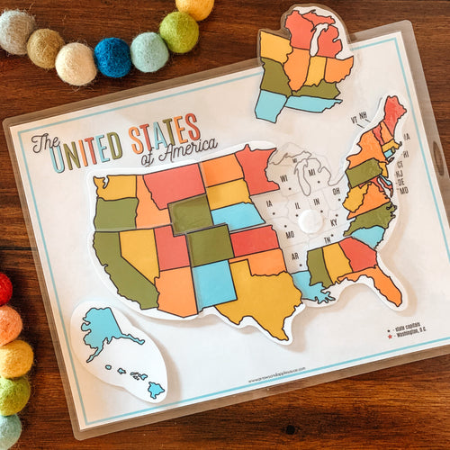 United States Map Printable Puzzle - Arrows And Applesauce
