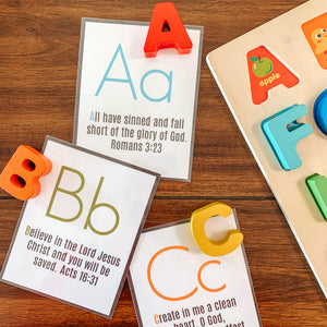 Alphabet Bible BUNDLE Tracing Pages & Cards - Arrows And Applesauce