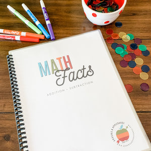 Addition + Subtraction Math Facts Printable Workbook