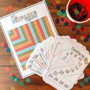 Skip Counting Cards & Multiplication Square - Arrows And Applesauce