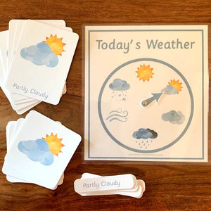 Montessori Weather Wheel & 3 Part Weather Cards - Arrows And Applesauce