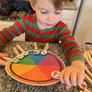 Preschool Color Matching Printable Wheel - Arrows And Applesauce