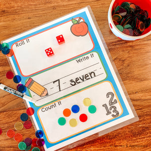 """Roll It, Write It, Count It"" Printable Dice Game - Arrows And Applesauce"