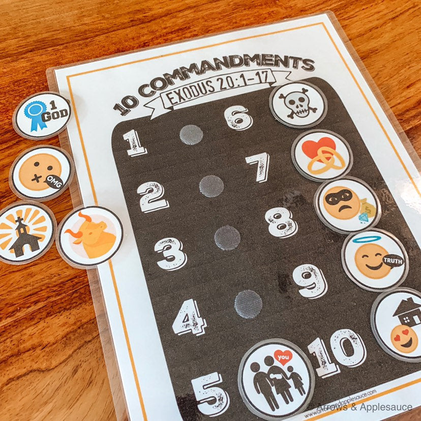 Ten Commandments Printable Memory Game - Arrows And Applesauce