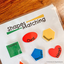 Load image into Gallery viewer, Shape Matching Printable Game - Arrows And Applesauce