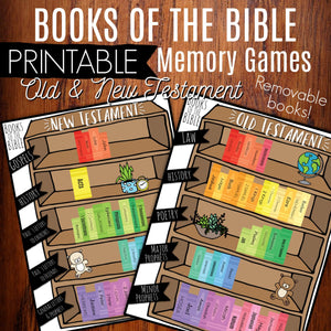 Books Of The Bible Printable Memory Games - Arrows And Applesauce