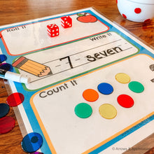 "Load image into Gallery viewer, ""Roll It, Write It, Count It"" Printable Dice Game - Arrows And Applesauce"