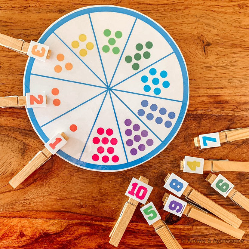 Numbers 1-10 Printable Matching Wheel - Arrows And Applesauce