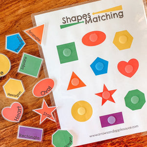 Shape Matching Printable Game - Arrows And Applesauce