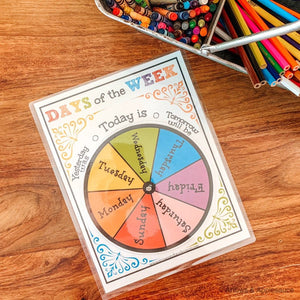 Days Of The Week Printable Wheel - Arrows And Applesauce
