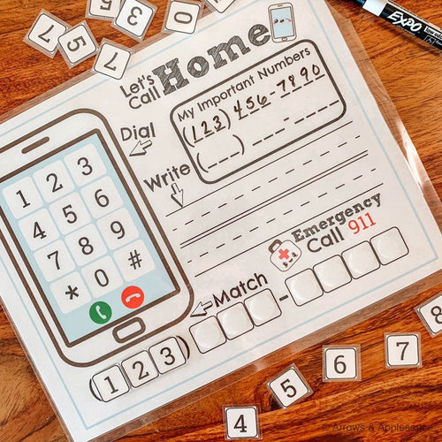 Phone Number Kids Printable Activity - Arrows And Applesauce