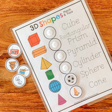 Load image into Gallery viewer, 3D Shapes Printable Matching Game - Arrows And Applesauce
